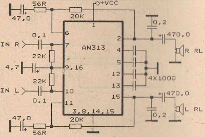 Power Amplifier Circuit with IC AN313