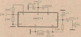 Power Amplifier Circuit with IC AN374