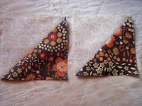 How to make a quilt triangle
