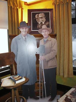 Ellsworth and Emery Kolk cutouts in Kolb Studio residence South Rim Grand Canyon National Park Arizona