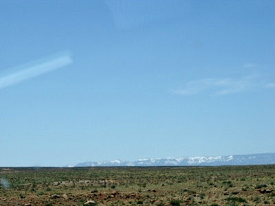 Snowy Kaibab Plateau from SR89 House Rock Valley Arizona