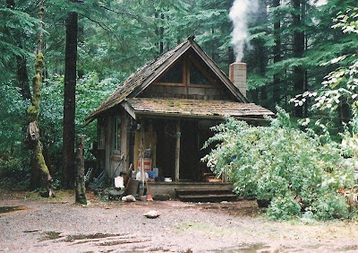 Cabin home at Eagles Cliff Gifford Pinchot National Forest Washington