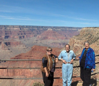 Berta, Gaelyn and Darlene at South Rim Grand Canyon National Park Arizona