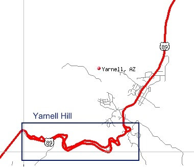 Map Of Highway 89 In Arizona.Arizona