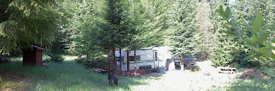 Host site Cave Creek campground Siskyou National Forest Oregon