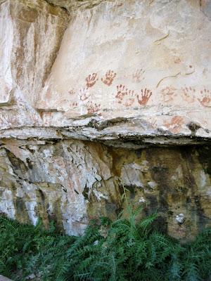 Modern grafitti Cliff Spring North Rim Grand Canyon National Park Arizona