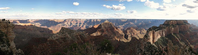Late light with shadows from Cape Royal North Rim Grand Canyon National Park Arizona