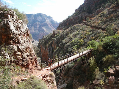 Redwall Bridge North Kaibab trail Grand Canyon National Park Arizona
