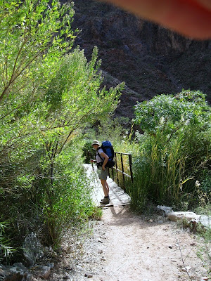 Boardwalk North Kaibab trail Grand Canyon National Park Arizona