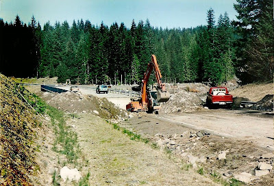Lewis River bridge repairs Gifford Pinchot NF Washington