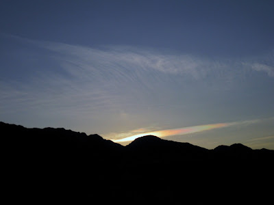 Sundog over Panamint Range Death Valley National Park California