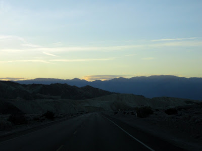 Sunset over Panamint Range Death Valley National Park California
