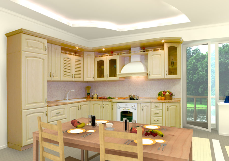 Kitchen Cupboard Layout Designs