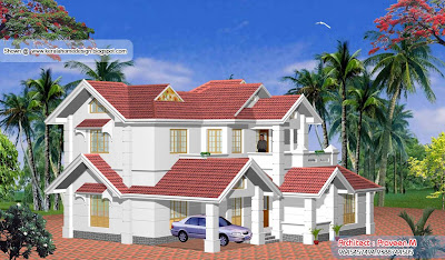 Kerala Home plan and elevation -Another View - 2656 Sq. Ft