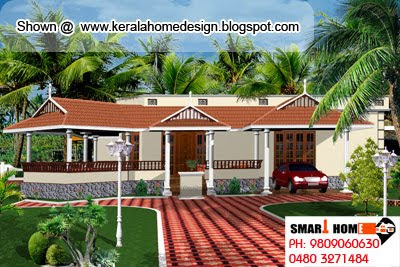 Kerala Home plan and elevation - 1910 Sq. Ft. - Single Floor Home