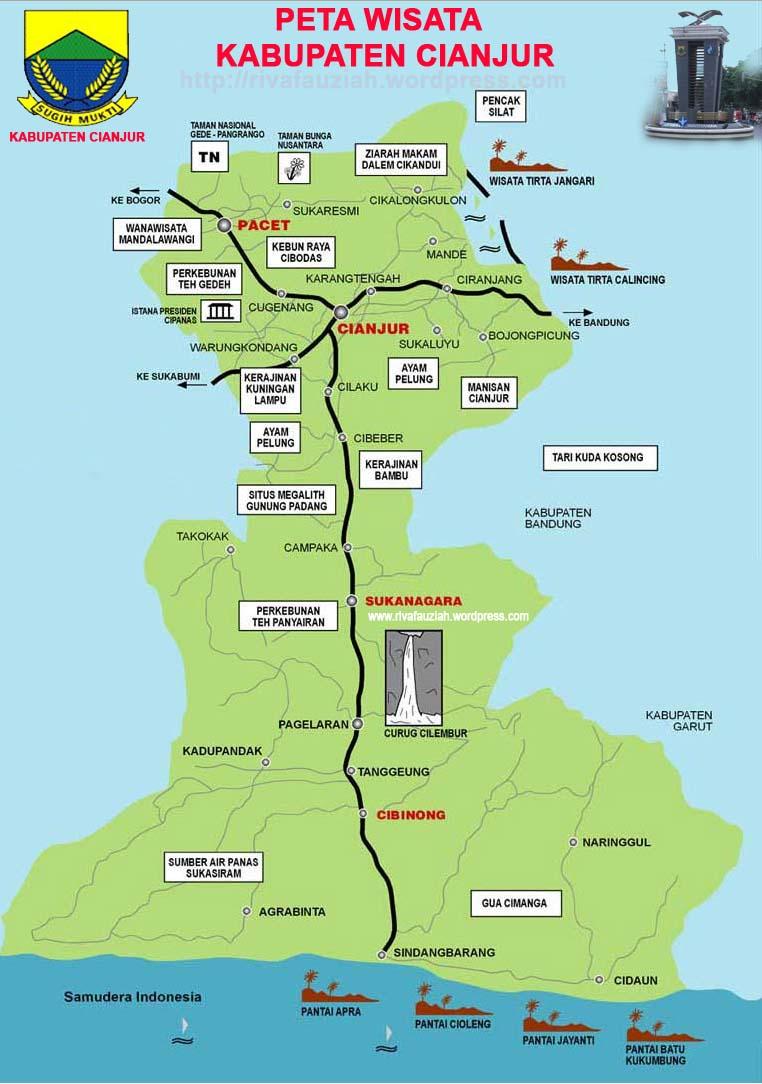 peta wisata cianjur