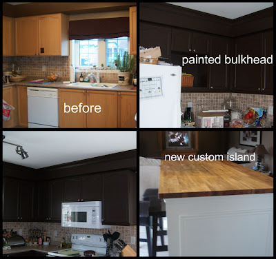 White wood painting the bulkhead for Bulkhead over kitchen cabinets
