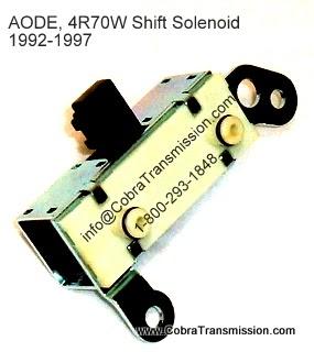 Cobra Transmission Parts 1-800-293-1848: AODE 4R70W Solenoid