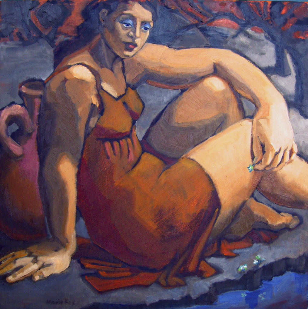 By The Brook Figurative Painting Art Paintings Of Women Woman In Female Figures Marie Fox Daily Painter Large Figure