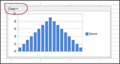 Google Docs - spreadsheet - insert chart on another sheet - Tips