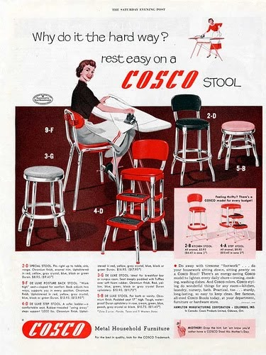 retro chair step stool old chairs for sale pop planet: why do it the hard way? rest easy on a cosco stool!
