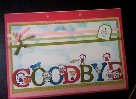 farewell card template