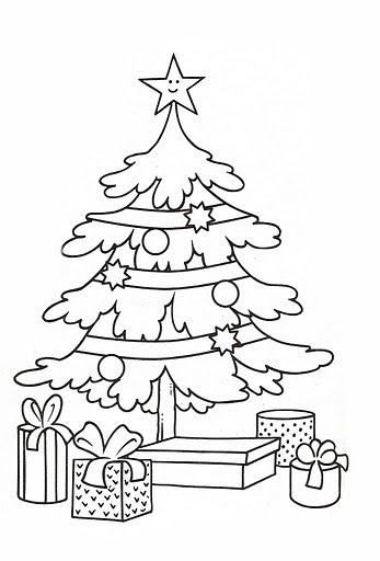 Dibujos Para Colorear De Navidadarbol Navideño Con Regalos Cosas