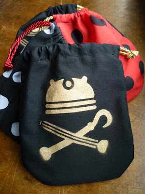 dalek pirate party booty bags