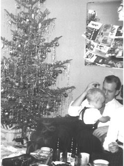 benning and Daddy - Christmas 1956