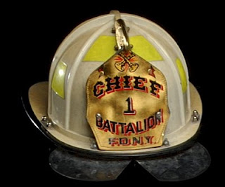 Helmet worn by FDNY Battalion Chief Joseph Pfeifer
