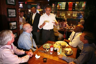 Obama inside O'Keefe's