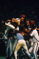 Mike Schmidt and Phillies celebrate 1980 championship!