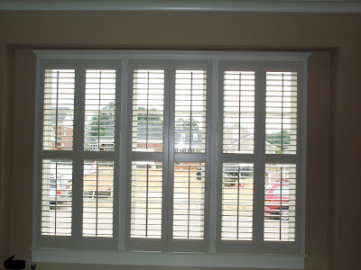 Louisville Blinds And Drapery Triple Window Of Shutters