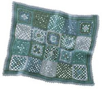 afghan from Bouton d'Or layette book #16