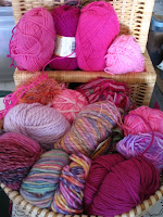 Grab bag of pink yarns