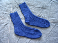 Basic ribbed socks in blue, child's size