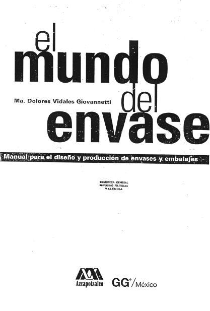 Blogid.itm.: EL MUNDO DEL ENVASE- Manual para el diseño y