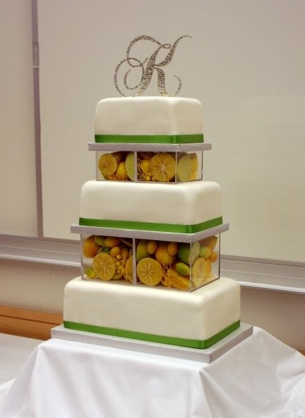 rectangle shaped wedding cake cake as an a lemon themed rectangular tiered cake 19054