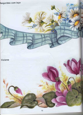 Moldes E Riscos De Flores Para Pintar Em Pano De Prato