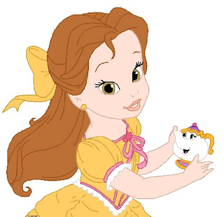 Princesa Bella Disney Baby colorir