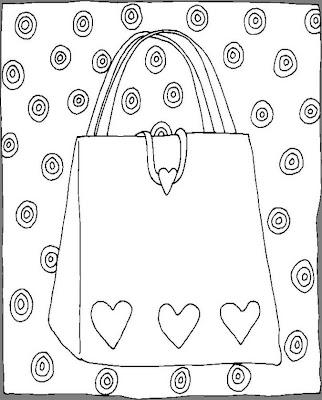 Bolsas Para Colorir Desenhos E Riscos