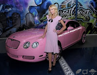 Galeria de fotos - Paris Hilton - carro Bentley 2