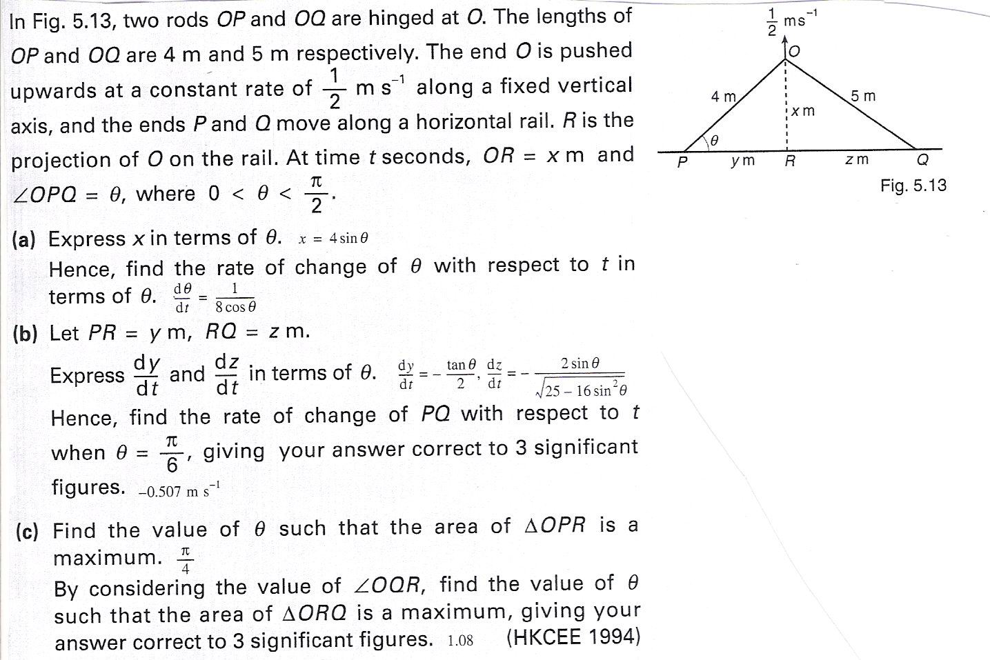 Application Of Differentiation Ce Questions