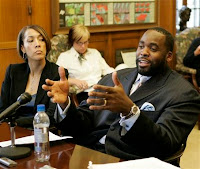 Detroit Mayor Kwame Kilpatrick and Chief of Staff Christine Beatty (AP File Photo)