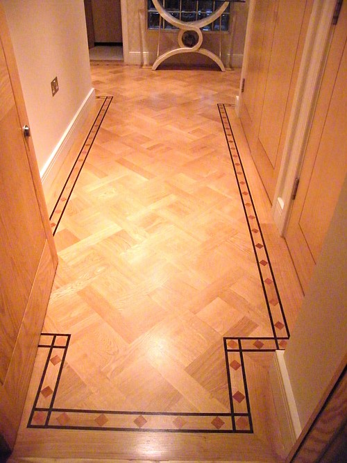 Parquet Flooring. Hardwood Floor Border & Medallion Inlays ...
