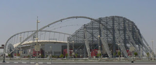 Doha's futuristic Khalifa Stadium is now standing unused in a empty Sport City.