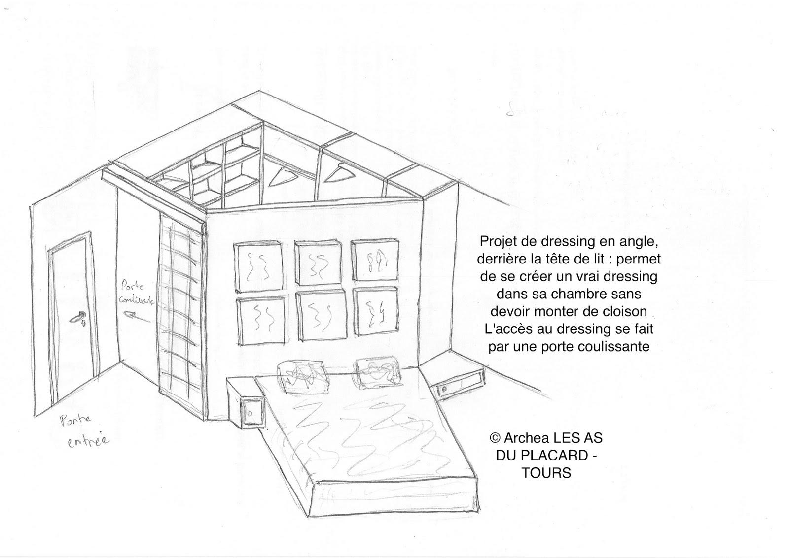 plan tete de lit dressing id e inspirante pour la conception de la maison. Black Bedroom Furniture Sets. Home Design Ideas