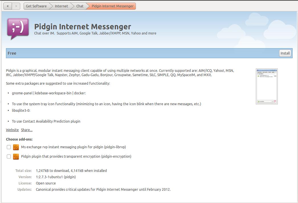 Choose Addons while Installing Applications: Ubuntu Software