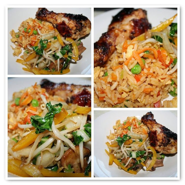 Grilled Asian-inspired Chicken Legs + Special Fried Rice