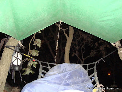 Refugio con hamaca en el Cerro los Bailadores